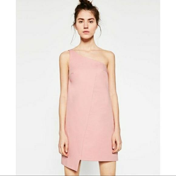f51b2b2e43 Zara Dresses | One Shoulder Mini Dress | Poshmark